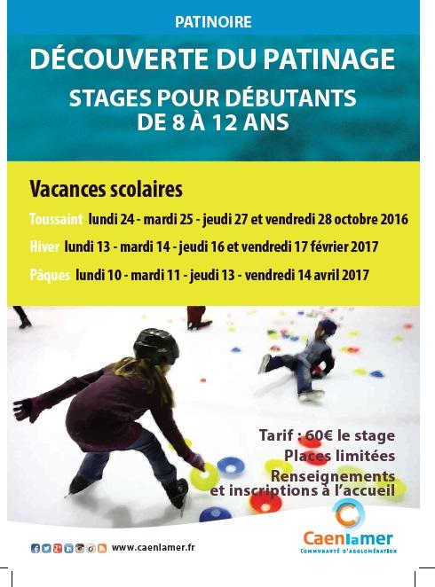Patinoire : découverte du patinage, stages pour débutants de 8 à 12 ans