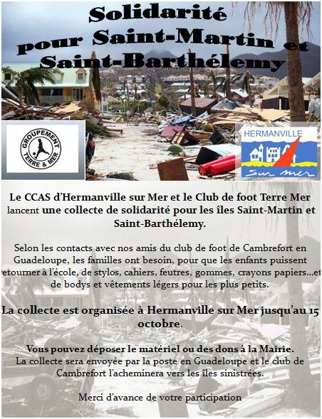 Solidarité pour Saint-Martin et Saint-Barthélemy