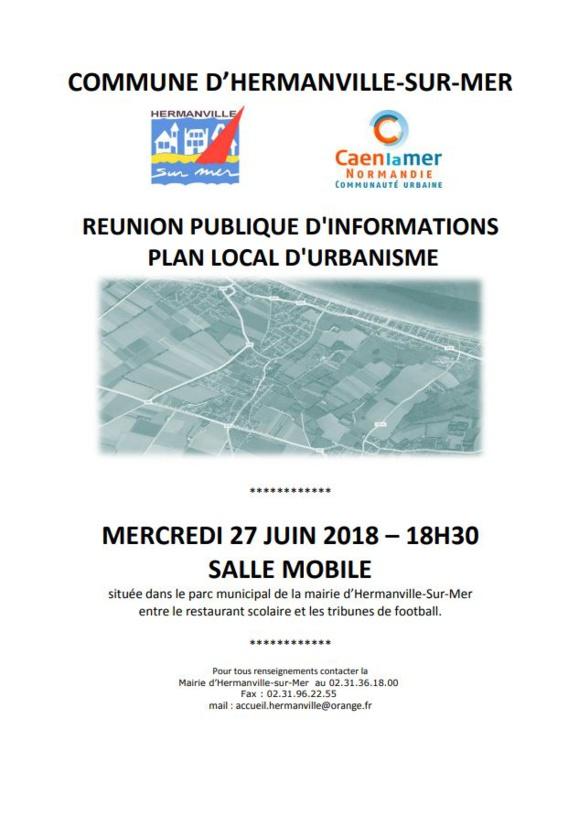 Réunion d'informations sur le PLU - Mercredi 27 juin 2018 à 18h30 salle mobile