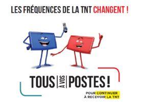 Changement des fréquences de la TNT le mardi 14 mai 2019.