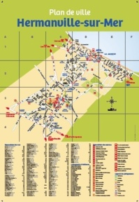 Plan de la ville d'Hermanville sur mer