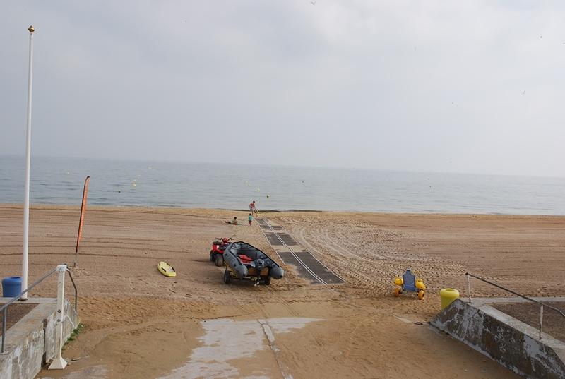 Hermanville sur Mer, la plage