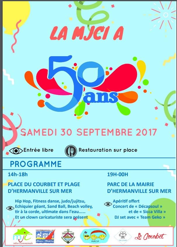 LA MJCI a 50 ans ! Samedi 30 septembre 2017