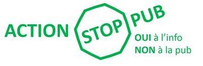 """Autocollant """"Stop Pub"""""""