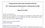 Programme des cérémonies commémoratives du 73ème anniversaire du débarquement à Hermanville sur Mer - Mardi 6 juin 2017