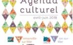 Agenda culturel avril à juin 2018