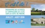 Le programme des activités et animations de l'été sur la Côte de Nacre est en ligne